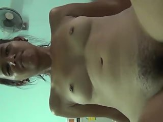 Trash whore Gip opens her pussy and inserts a cock