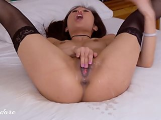 Horny Asian Teen Talks Dirty and Squirts Multiple Times
