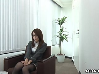 Japanese lady, Mao Saitou is masturbating, uncensored