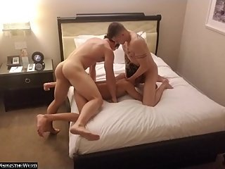 breeding an asian twink with my buddy (threesome)