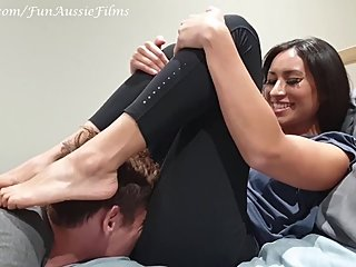 Rich Brat Makes Broke Roommate Sniff Farts For Cash