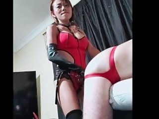 Asian Femdom pegging slave with strapon - featuring Dragon Mistress