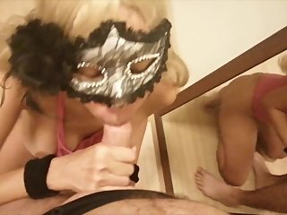 Blonde Asian Girlfriend Gives Deepthroat Blowjob & Gets ThroatPie Swallows