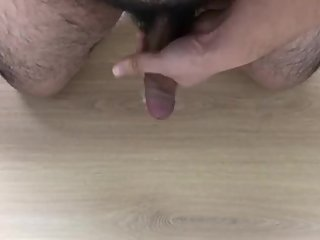 Asian bear cumshot on the floor