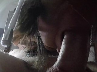 Low angle blowjob / cum in mouth... Sorry for bad quality....