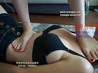 Chinese Lesbian Foot Slave 02