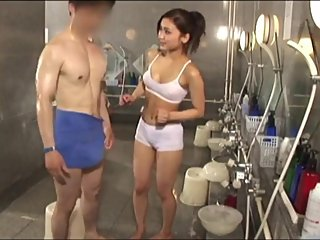 Quick Jackings - New Teen Spa Gal Makes My Short Stiffy Happily Erupt