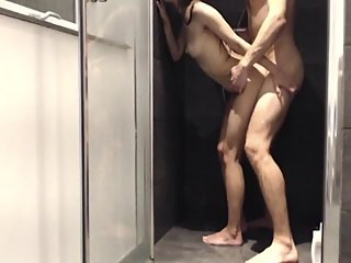 Flexible Teen Has Intense Sex in Shower! Amateur Couple First Video Ever!