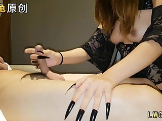Chinese Girl Devil Long Nail Vampire Teeth Cosplay Tit Cum Homemade Amateur