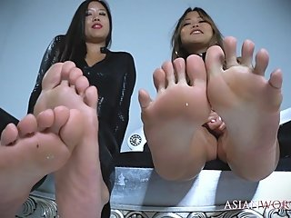Double Asian Foot Domination