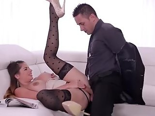 meet her on bluemovxxx_com Top-heavy Boss Milf Cathy Heaven makes him fill
