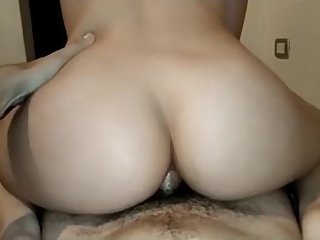 Brother fucks his bitch and cum inside, hot ass