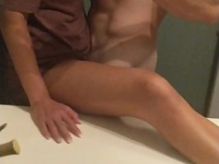 She Cums on My Dick During Passionate Sex in Restroom
