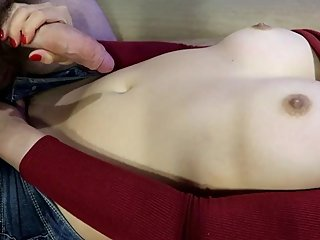 I just picked up stranger to cum on me! - Cum on Belly - Asian Teen Babe