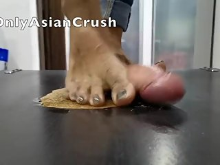 Filipina Nike cock crush and footjob