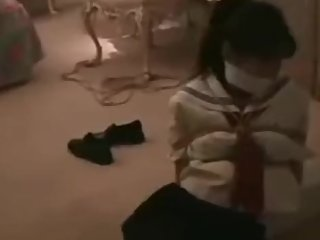 asian tied up in school uniform old video from myvideo.