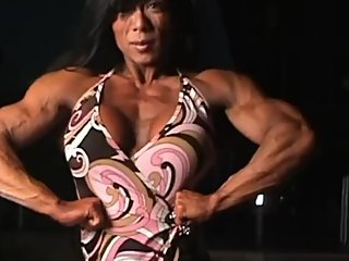 Asian FBB big boobs muscle girl