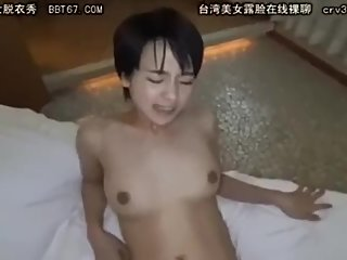 Short Hair Asian schoolgirl with nice tits
