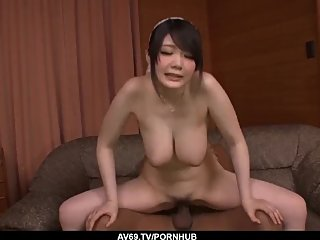 Milf sucks on a black dick then fucks in the ass and pu