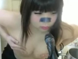 Real sister's masturbation in her live chat